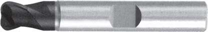 Концевая фреза с радиусом 2 - зубая для обработки чугунов и закаленных сталей до 55 HRC без подвода СОЖ d12 h83 z2 r1,5 - Длинная серия - хвостовик Weldon MPSA.02WLCI.Z02.012015 MPSA заточка и изготовление