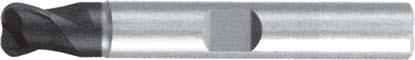 Концевая фреза с радиусом 2 - зубая для обработки чугунов и закаленных сталей до 55 HRC без подвода СОЖ d12 h150 z2 r0,5 - Сверхдлинная серия - хвостовик Weldon MPSA.02WXLCI.Z02.012005 MPSA заточка и изготовление