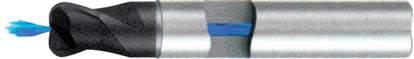 Концевая фреза с радиусом 2 - зубая для обработки чугунов и закаленных сталей до 55 HRC с центральным подводом СОЖ d12 h12 z2 r1,5 - Короткая серия - хвостовик цилиндр MPSA.02CKCI.Z02.012015CC MPSA заточка и изготовление