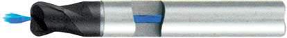 Концевая фреза с радиусом 2 - зубая для обработки чугунов и закаленных сталей до 55 HRC с центральным подводом СОЖ d10 h72 z2 r2 - Длинная серия - хвостовик цилиндр MPSA.02CLCI.Z02.010020CC MPSA заточка и изготовление