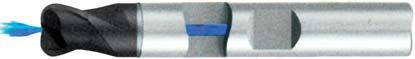 Концевая фреза с радиусом 2 - зубая для обработки чугунов и закаленных сталей до 55 HRC с центральным подводом СОЖ d6 h10 z2 r0,5 - Длинная серия - хвостовик Weldon MPSA.02WLCI.Z02.006005CC MPSA заточка и изготовление