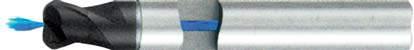 Концевая фреза с радиусом 2 - зубая для обработки чугунов и закаленных сталей до 55 HRC с центральным подводом СОЖ d6 h100 z2 r1 - Сверхдлинная серия - хвостовик цилиндр MPSA.02CXLCI.Z02.006010CC MPSA заточка и изготовление