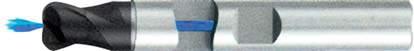 Концевая фреза с радиусом 2 - зубая для обработки чугунов и закаленных сталей до 55 HRC с центральным подводом СОЖ d10 h100 z2 r0,5 - Сверхдлинная серия - хвостовик Weldon MPSA.02WXLCI.Z02.010005CC MPSA заточка и изготовление