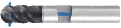 Фреза с полным радиусом 4 - зубая для обработки труднообрабатываемых материалов с подводом СОЖ к каждому зубу d16 h82 z4 - Короткая серия - хвостовик цилиндр MPSA.03CKS.Z04.016SC MPSA заточка и изготовление
