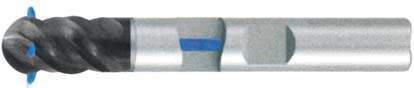 Фреза с полным радиусом 4 - зубая для обработки труднообрабатываемых материалов с подводом СОЖ к каждому зубу d16 h150 z4 - Сверхдлинная серия - хвостовик Weldon MPSA.03WXLS.Z04.016SC MPSA заточка и изготовление