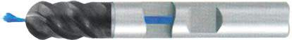 Фреза с полным радиусом 4 - зубая для обработки чугунов и закаленных сталей до 55 HRC с центральным подводом СОЖ d10 h72 z4 - Длинная серия - хвостовик Weldon MPSA.03WLCI.Z04.010CC MPSA заточка и изготовление