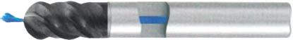 Фреза с полным радиусом 4 - зубая для обработки чугунов и закаленных сталей до 55 HRC с центральным подводом СОЖ d10 h100 z4 - Сверхдлинная серия - хвостовик цилиндр MPSA.03CXLCI.Z04.010CC MPSA заточка и изготовление