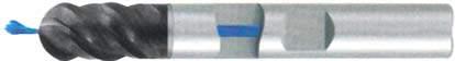 Фреза с полным радиусом 4 - зубая для обработки чугунов и закаленных сталей до 55 HRC с центральным подводом СОЖ d10 h40 z4 - Сверхдлинная серия - хвостовик Weldon MPSA.03WXLCI.Z04.010CC MPSA заточка и изготовление