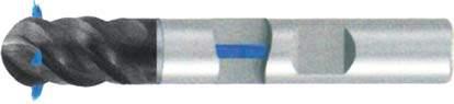 Фреза с полным радиусом 4 - зубая для обработки чугунов и закаленных сталей до 55 HRC с подводом СОЖ к каждому зубу d12 h73 z4 - Короткая серия - хвостовик Weldon MPSA.03WKCI.Z04.012SC MPSA заточка и изготовление