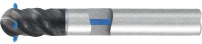 Фреза с полным радиусом 4 - зубая для обработки чугунов и закаленных сталей до 55 HRC с подводом СОЖ к каждому зубу d12 h83 z4 - Длинная серия - хвостовик цилиндр MPSA.03CLCI.Z04.012SC MPSA заточка и изготовление
