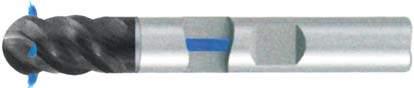 Фреза с полным радиусом 4 - зубая для обработки чугунов и закаленных сталей до 55 HRC с подводом СОЖ к каждому зубу d16 h92 z4 - Длинная серия - хвостовик Weldon MPSA.03WLCI.Z04.016SC MPSA заточка и изготовление