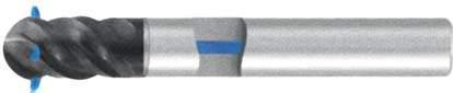 Фреза с полным радиусом 4 - зубая для обработки чугунов и закаленных сталей до 55 HRC с подводом СОЖ к каждому зубу d16 h65 z4 - Сверхдлинная серия - хвостовик цилиндр MPSA.03CXLCI.Z04.016SC MPSA заточка и изготовление