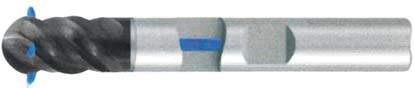 Фреза с полным радиусом 4 - зубая для обработки чугунов и закаленных сталей до 55 HRC с подводом СОЖ к каждому зубу d8 h40 z4 - Сверхдлинная серия - хвостовик Weldon MPSA.03WXLCI.Z04.008SC MPSA заточка и изготовление
