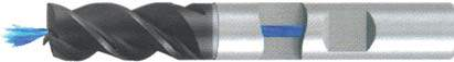 Концевая фреза 3 - зубая для обработки стали и универсального приминения с центральным подводом СОЖ d8 h63 z3 - Длинная серия - хвостовик Weldon MPSA.01WL.Z03.008CC MPSA заточка и изготовление