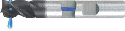 Концевая фреза 3 - зубая для обработки стали и универсального приминения с подводом СОЖ к каждому зубу d20 h92 z3 - Короткая серия - хвостовик Weldon MPSA.01WK.Z03.020SC MPSA заточка и изготовление