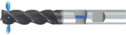 Концевая фреза 3 - зубая для обработки стали и универсального приминения с подводом СОЖ к каждому зубу d8 h40 z3 - Сверхдлинная серия - хвостовик Weldon MPSA.01WXL.Z03.008SC MPSA заточка и изготовление