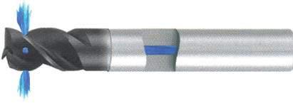 Концевая фреза 3 - зубая для обработки алюминия с подводом СОЖ к каждому зубу d16 h16 z3 - Короткая серия - хвостовик цилиндр MPSA.01CKAL.Z03.016SC MPSA заточка и изготовление