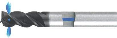 Концевая фреза 3 - зубая для обработки алюминия с подводом СОЖ к каждому зубу d12 h22 z3 - Длинная серия - хвостовик цилиндр MPSA.01CLAL.Z03.012SC MPSA заточка и изготовление