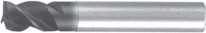 Концевая фреза 3 - зубая для обработки чугунов и закаленных сталей до 55 HRC без подвода СОЖ d4 h5 z3 - Короткая серия - хвостовик цилиндр MPSA.01CKCI.Z03.004 MPSA заточка и изготовление