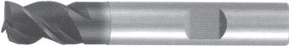Концевая фреза 3 - зубая для обработки чугунов и закаленных сталей до 55 HRC без подвода СОЖ d3 h50 z3 - Короткая серия - хвостовик Weldon MPSA.01WKCI.Z03.003 MPSA заточка и изготовление