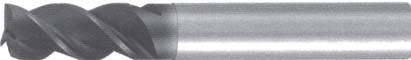Концевая фреза 3 - зубая для обработки чугунов и закаленных сталей до 55 HRC без подвода СОЖ d2 h57 z3 - Длинная серия - хвостовик цилиндр MPSA.01CLCI.Z03.002 MPSA заточка и изготовление