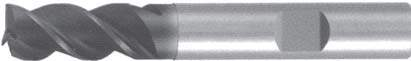 Концевая фреза 3 - зубая для обработки чугунов и закаленных сталей до 55 HRC без подвода СОЖ d6 h57 z3 - Длинная серия - хвостовик Weldon MPSA.01WLCI.Z03.002 MPSA заточка и изготовление