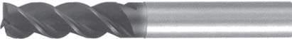 Концевая фреза 3 - зубая для обработки чугунов и закаленных сталей до 55 HRC без подвода СОЖ d3 h100 z3 - Сверхдлинная серия - хвостовик цилиндр MPSA.01CXLCI.Z03.003 MPSA заточка и изготовление