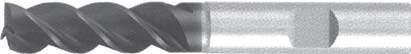 Концевая фреза 3 - зубая для обработки чугунов и закаленных сталей до 55 HRC без подвода СОЖ d12 h45 z3 - Сверхдлинная серия - хвостовик Weldon MPSA.01WXLCI.Z03.012 MPSA заточка и изготовление
