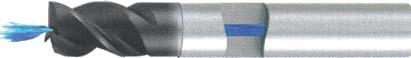 Концевая фреза 3 - зубая для обработки чугунов и закаленных сталей до 55 HRC с центральным подводом СОЖ d6 h7 z3 - Короткая серия - хвостовик цилиндр MPSA.01CKCI.Z03.006CC MPSA заточка и изготовление