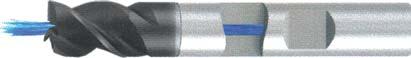 Концевая фреза 3 - зубая для обработки чугунов и закаленных сталей до 55 HRC с центральным подводом СОЖ d6 h7 z3 - Короткая серия - хвостовик Weldon MPSA.01WKCI.Z03.006CC MPSA заточка и изготовление